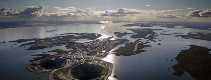 Aerial Photo of Diavik Diamond Mine in Canada