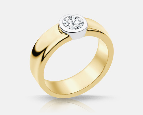 PLC739Y Solitaire Engagement Ring