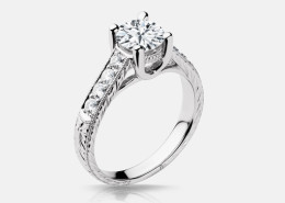 R547 Vintage Engagement Ring